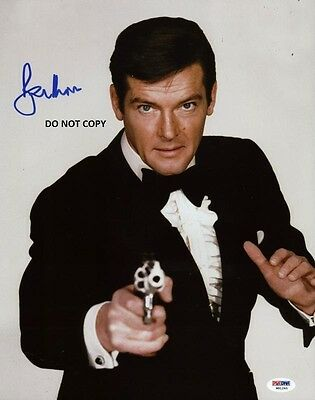 ROGER MOORE 8X10 AUTHENTIC IN PERSON SIGNED AUTOGRAPH REPRINT PHOTO RP