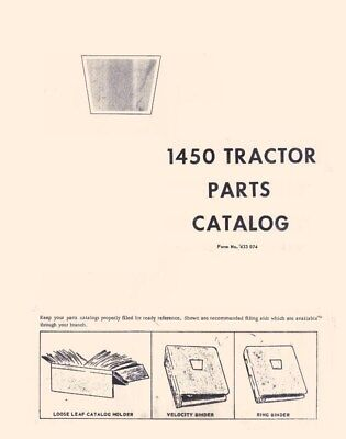 Oliver 1450 Tractor Parts Catalog Manual