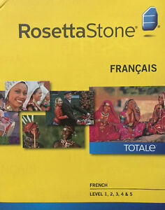 Rosetta Stone French Level 1-5 with headphones and mic