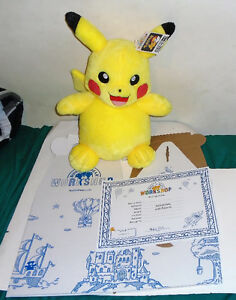 PIKACHU New With Tags Pokemon Talking Build A Bear Pikachu plush