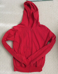American Apparel California Fleece Small Women's Hoody Red