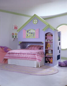 Doll House Bunk Bed with Dresser and desk price reduced.