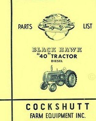 Cockshutt 40 Diesel Black Hawk Tractor Parts List Manual Catalog