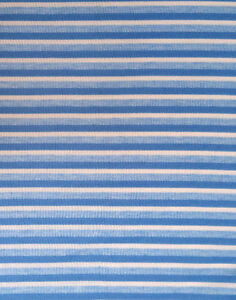 New blue & white polyester/Spandex knit fabric 1.6 m x 20 in