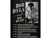 2 x Bob Dylan standing tickets Liverpool Echo Arena Monday 8th May