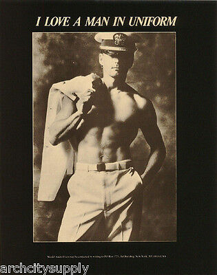 Mini Poster  Andre Fiset   I Love A Man In Unif Sexy Male Model  Apr34  Rp58 O C