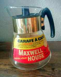 MAXWELL HOUSE Instant COFFEE GLASS Pot ORIGINAL Label ATOMIC Kitchener / Waterloo Kitchener Area image 2