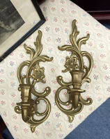 VINTAGE SYROCO WALL SCONCES MISSISSAUGA HOME DECOR