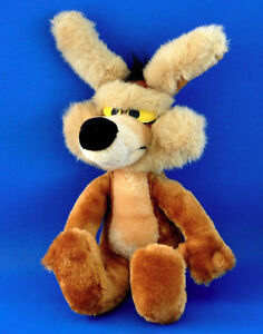 """Vintage 1993 Mighty Star WB WILE E COYOTE 18"""" Plush Doll Toy"""