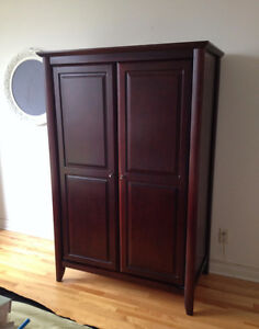 Solid wood armoire/wardrobe from Mobilia
