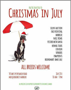 Christmas in July Dog Event