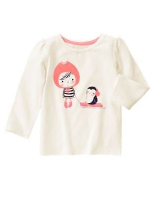NWT Gymboree Girls Polar Pink Girl and Penguin Sled Top 12-18 18-24 2T 3T 4T -