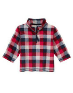 NWT Gymboree Boys 4T-5T Ski Cabin - Buffalo Plaid Microfleece