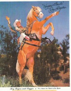 """NESTLE'S QUIK ROY ROGERS AND TRIGGER 8"""" X 11"""" PHOTO"""