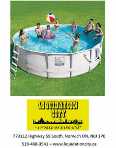 """BRAND NEW 15'x48"""" Metal Frame Swimming Pool Package"""