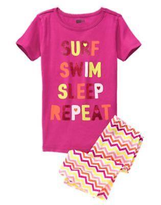 NWT Crazy 8 by Gymboree 2pc Gymmies Pajamas PJ's Sz: 5 Swim Surf Sleep - Crazy 8 Pajamas