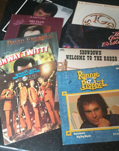9 Great Country Vinyl Records - One Low Price ( Bin # 9 )