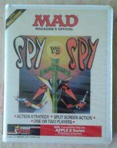 Original 1984 Mad SPY VS. SPY Apple II VINTAGE video game