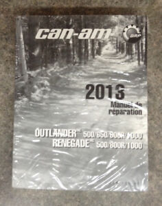 BRP Can-Am Manuel de réparation Outlander / Renegade 2013
