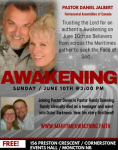Revival Gathering on June 10th in Moncton