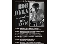 2 x Bob Dylan seated tickets, Echo Arena Liverpool, Monday 8th May 2017