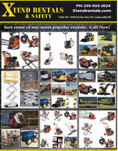 Rent tools, Equipment, machines, trailers, scaffold,  much more