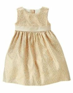 Nwt gymboree holiday shine gold brocade dot dress sz 18 24 months