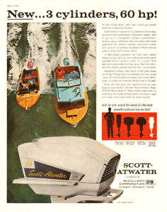 Large color magazine ad for 1958 Scott-Atwater Outboard Motors