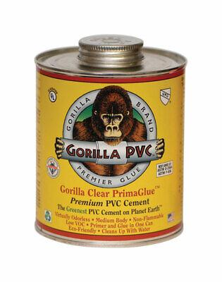 Gorilla PVC  PrimaGlue  Clear  Primer and Cement  For PVC 4 oz.