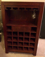 Hand Crafted Indian Rose Wood Wine Rack
