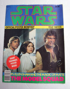 STAR WARS 1977 VINTAGE OFFICIAL POSTER MONTHLY ISSUE 13