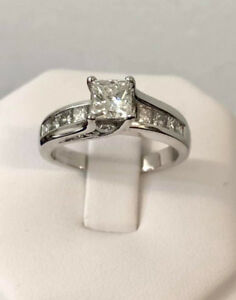 14k gold princess cut diamond engagement ring/Certified- $10,600, used for sale  Toronto