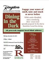 Dining in the Dark-eat a 3 course meal while under blindfold!