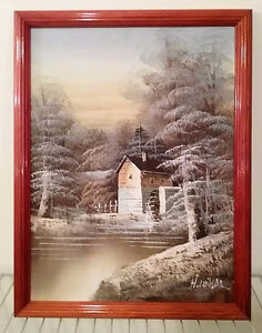"""15 1/2"""" x 11 1/2"""" Oil painting signed by H. Wilson"""
