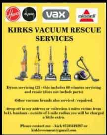 Vacuum Cleaning/Service & Repair