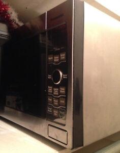 Large Panasonic stainless steel microwave