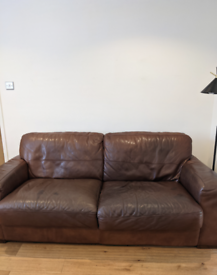 3 seater Barker & Stonehouse leather sofa