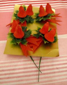 4 décorations de Noël vintage pour centre de table #N75