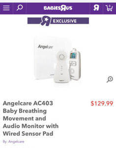 Angelcare Breathing and Movement Monitor *NEW*