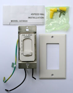 Brand new Rhine 4 speed ceiling fan switch and accessories
