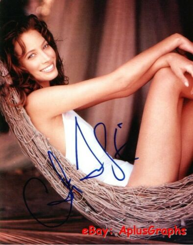 CHRISTY TURLINGTON.. Sexy Supermodel in Swimsuit - SIGNED