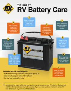 RV cares flooded deep cycle performance battery