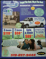 Super Steam CARPET CLEANING Services LICENSED and Insured