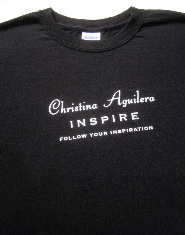 CHRISTINA AGUILERA inspire MEDIUM promo T-SHIRT follow you inspiration