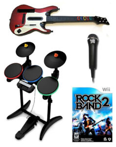 Wii Drums and/or guitar and Rock Band and/or Guitar Hero Games