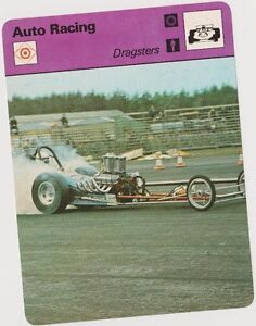 1979 DRAGSTERS SPORTSCASTER CARD #62-21 RARE B PRINTING MINT