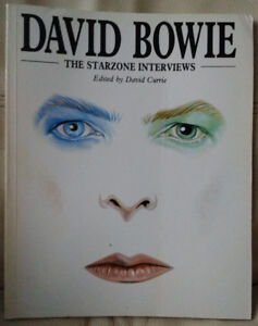David Bowie Book The Starzone Interviews 1985 David Currie RARE