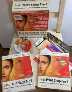 Jasc Paint Shop Pro 7.  Complete, like new. Windows 95/98 and up