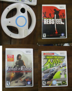 WII Games and STEERING WHEEL $ 10Need for Speed NITRO $ 25 Pri