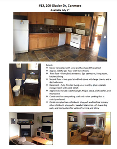 Townhouse for rent available July 1st